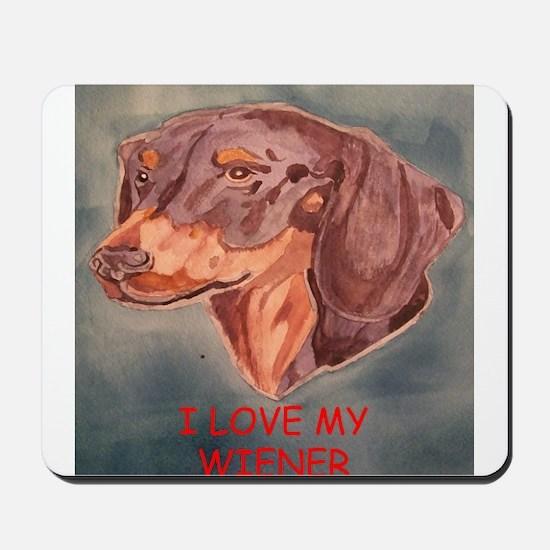 I Love My Wiener Mousepad