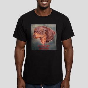I Love My Wiener Men's Fitted T-Shirt (dark)