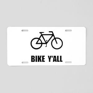 Bike Y'all Aluminum License Plate
