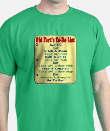 Old Fart To-Do List (s/yel) T-Shirt