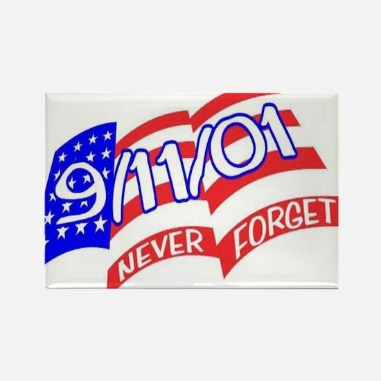 Never Forget Flag Rectangle Magnet