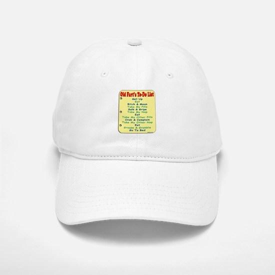 Old Fart To-Do List (s/yel) Baseball Baseball Cap