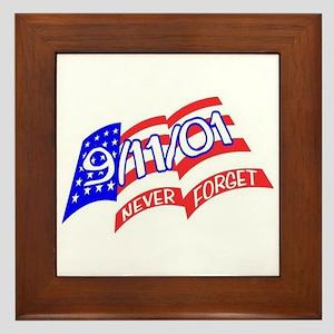 Never Forget Flag Framed Tile