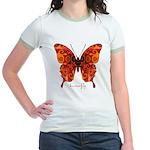 Crucifix Butterfly Jr. Ringer T-Shirt
