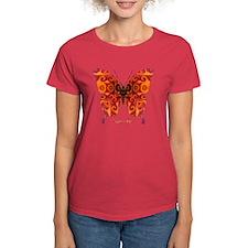 Crucifix Butterfly Women's Dark T-Shirt