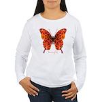 Crucifix Butterfly Women's Long Sleeve T-Shirt