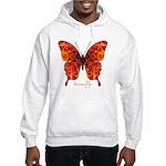 Crucifix Butterfly Hooded Sweatshirt