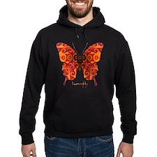 Crucifix Butterfly Hoodie (dark)