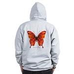 Crucifix Butterfly B Zip Hoodie