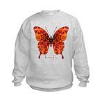 Crucifix Butterfly Kids Sweatshirt