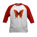 Crucifix Butterfly Kids Baseball Jersey