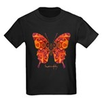 Crucifix Butterfly Kids Dark T-Shirt