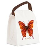Crucifix Butterfly Canvas Lunch Bag