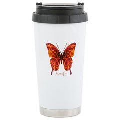 Crucifix Butterfly Stainless Steel Travel Mug