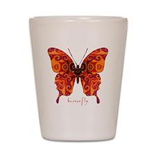 Crucifix Butterfly Shot Glass