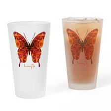 Crucifix Butterfly Drinking Glass