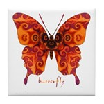 Crucifix Butterfly Tile Coaster