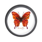 Crucifix Butterfly Wall Clock