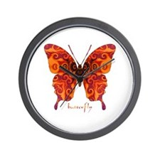 Crucifix Butterfly Wall Clock