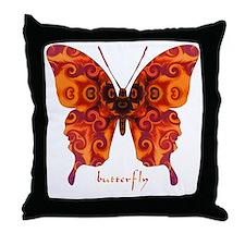Crucifix Butterfly Throw Pillow