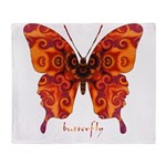 Crucifix Butterfly Throw Blanket