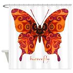 Crucifix Butterfly Shower Curtain