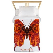Crucifix Butterfly Twin Duvet