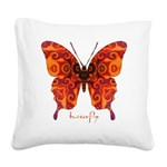 Crucifix Butterfly Square Canvas Pillow
