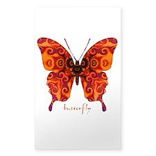 Crucifix Butterfly Sticker (Rectangle)