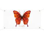 Crucifix Butterfly Banner