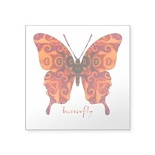 Crucifix Butterfly Square Sticker 3