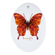 Crucifix Butterfly Ornament (Oval)