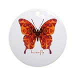 Crucifix Butterfly Ornament (Round)