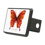 Crucifix Butterfly Rectangular Hitch Cover