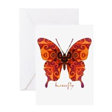 Crucifix Butterfly Greeting Card