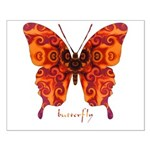 Crucifix Butterfly Small Poster