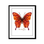 Crucifix Butterfly Framed Panel Print