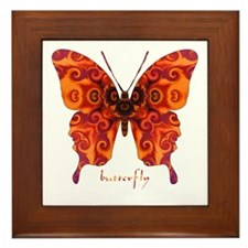 Crucifix Butterfly Framed Tile