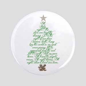"""Oh holy night tree 3.5"""" Button"""