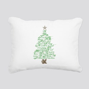 Oh holy night tree Rectangular Canvas Pillow