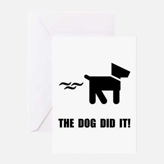Dog Did It Greeting Card