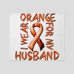 I Wear Orange for my Husband Throw Blanket
