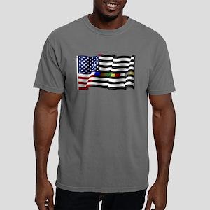 Thin Line Combo Flag Mens Comfort Colors Shirt