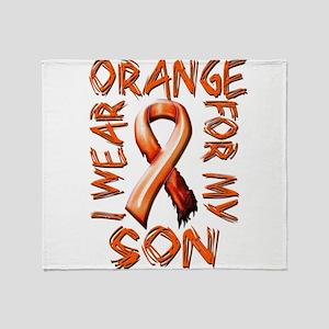 I Wear Orange for my Son Throw Blanket