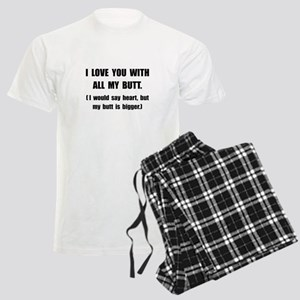 Love You With Butt Men's Light Pajamas