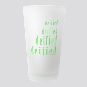 Deified: Green Isosceles Frosted Drinking Glass