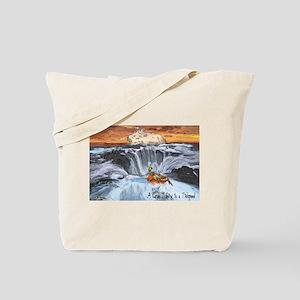 A Crab Tubing in a Tidepool Tote Bag