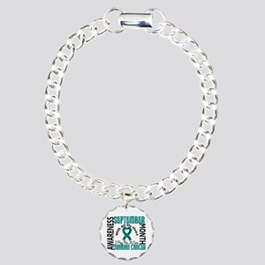 Ovarian Cancer Awareness Month Charm Bracelet, One