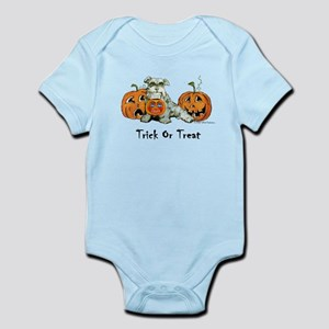 Schnauzer Halloween Pumpkins Infant Bodysuit