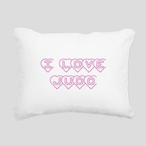 I Love Judo Rectangular Canvas Pillow